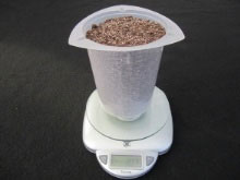 Weight air dried sample